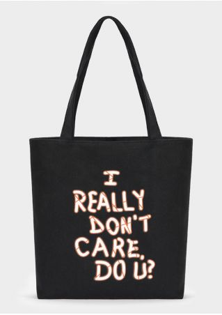 I Really Don't Care Do U Canvas Handbag