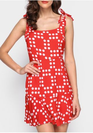 Polka Dot Tie Backless Mini Dress