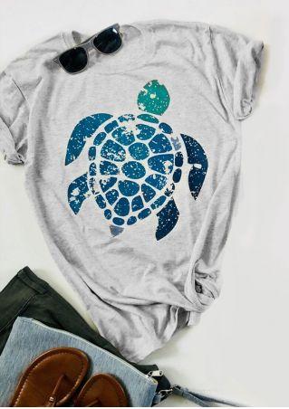 Tortoise Short Sleeve O-Neck T-Shirt