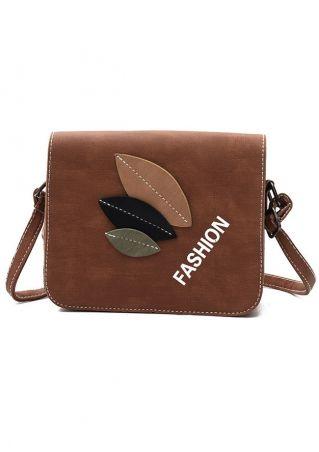 PU Leaf Fashion Crossbody Bag