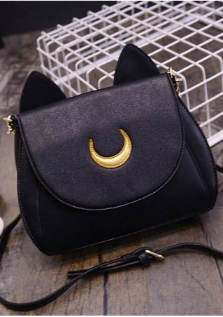 Cat Ear Crescent Crossbody Bag