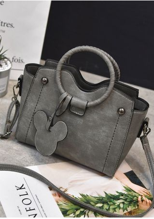 Solid Mouse PU Crossbody Bag