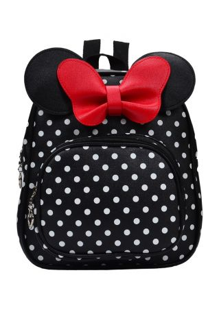 Mouse Polka Dot Zipper Backpack