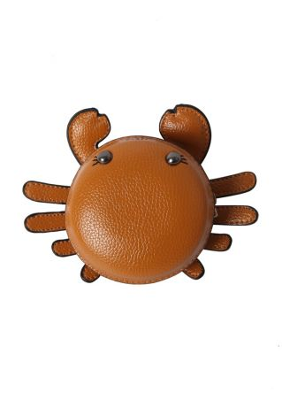 Solid PU Crab Shaped Purse