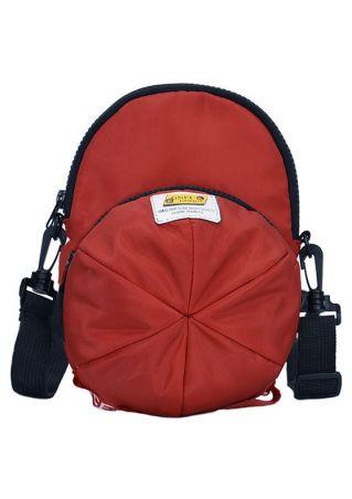 Cap Shaped Zipper Crossbody Bag