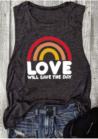 Rainbow Love Will Save The Day Tank