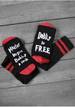 Dobby Is Free Color Block Socks