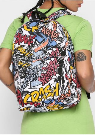 Multicolor Graffiti Boom Crash Backpack