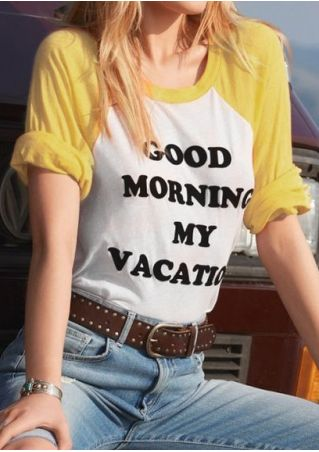 Good Morning My Vacation Baseball T-Shirt