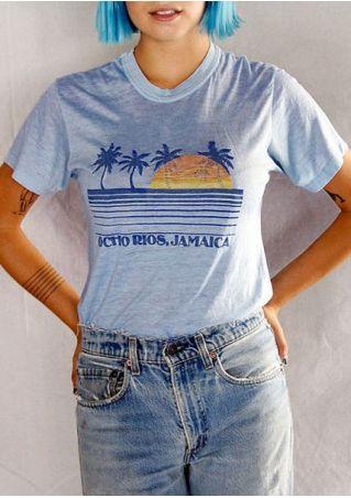 Ocho Rios Jamaica Sunset Sea T-Shirt