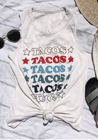 Tacos Star O-Neck Tank