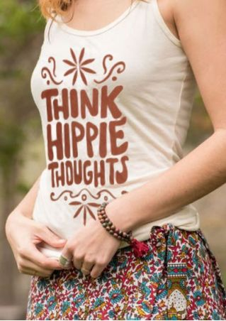 Think Hippie Thoughts O-Neck Tank