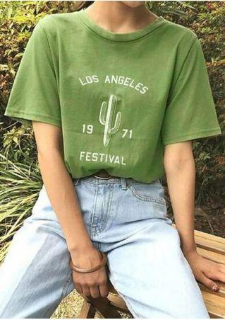 Los Angeles Festival 1971 Cactus T-Shirt