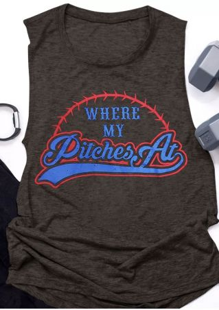 Where My Pitches At Baseball Tank