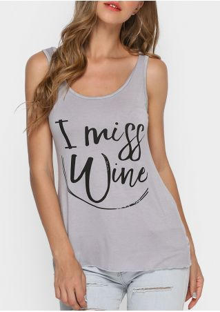 I Miss Wine O-Neck Tank