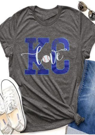 KC Love Baseball O-Neck T-Shirt
