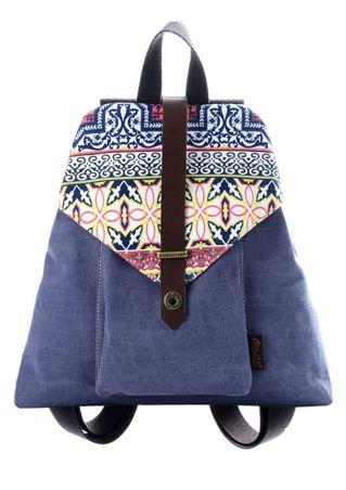 Floral Zipper Adjustable Strap Backpack