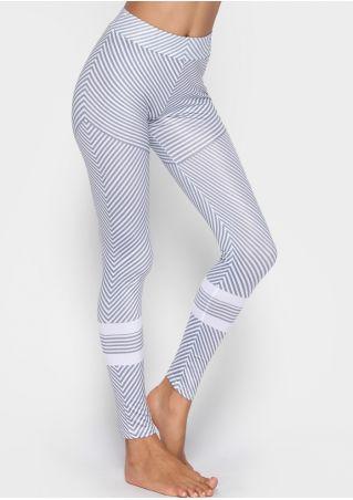Striped High Waist Sport Leggings