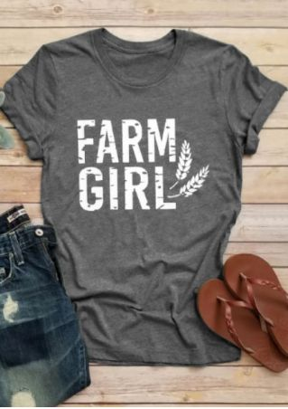 Farm Girl Wheat O-Neck T-Shirt