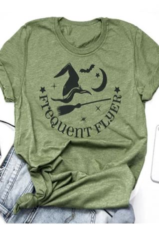 Halloween Frequent Flyer Witch T-Shirt