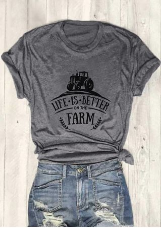 Life Is Better On The Farm T-Shirt