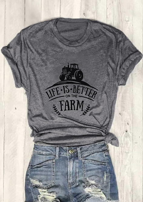 f9f5c44da84 Life Is Better On The Farm T-Shirt - Bellelily