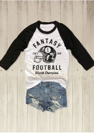 Football World Champion Baseball T-Shirt
