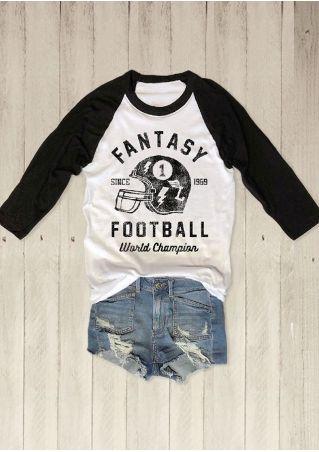 Football World Champion Baseball T-Shirt