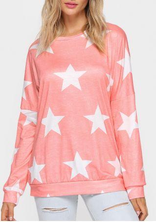 Star O-Neck Long Sleeve T-Shirt