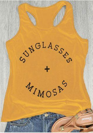 Sunglasses Mimosas Racerback Tank