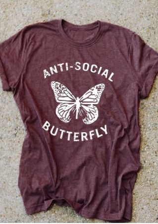 Anti-Social Butterfly Short Sleeve T-Shirt