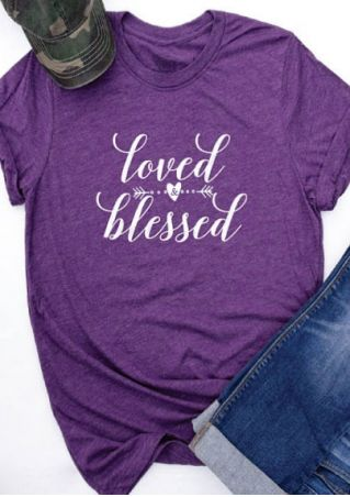 Loved Blessed Heart Arrow T-Shirt