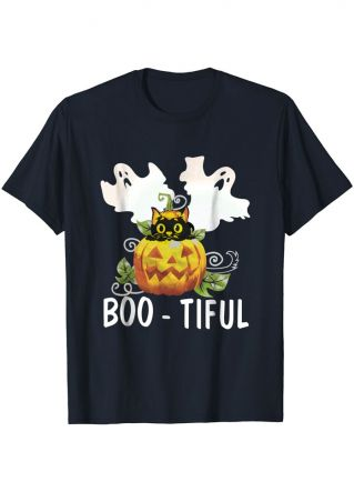 Halloween Boo-Tiful Pumpkin Face T-Shirt