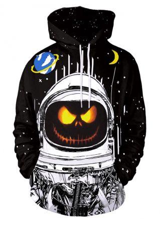 Halloween Unisex Ghost Mischief Long Sleeve Hoodie