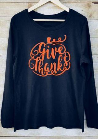 Give Thanks Pumpkin Long Sleeve T-Shirt