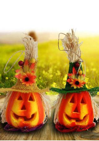LED Pumpkin Scarecrow Night Lamp