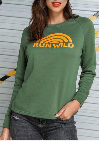 Run Wild Raglan Sleeve Sweatshirt