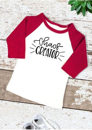 Kids Chaos Creator Baseball T-Shirt