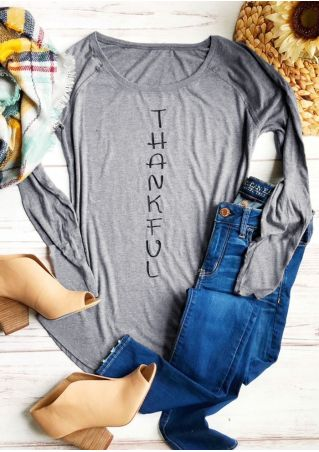 Thankful Long Sleeve O-Neck T-Shirt