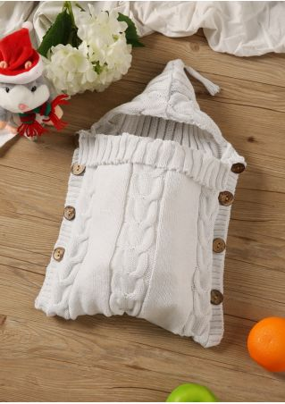 Knitted Button Baby Sleeping Bag