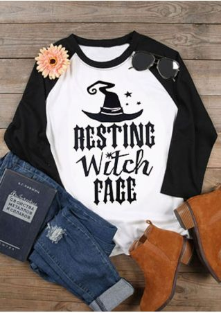 Resting Witch Face Hat Baseball T-Shirt