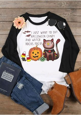 I Just Want To Eat Halloween Candy Baseball T-Shirt