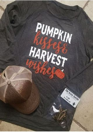 Pumpkin Kisses & Harvest Wishes T-Shirt