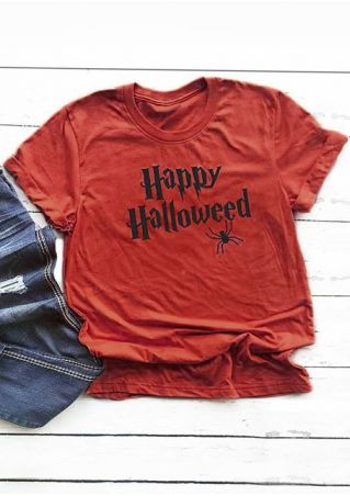 Happy Halloweed Spider O-Neck T-Shirt