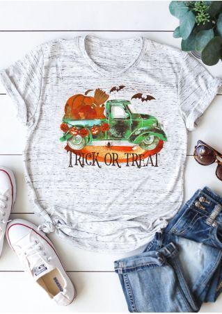 Trick Or Treat Pumpkin Car T-Shirt