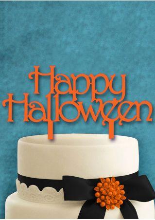 Happy Halloween Pumpkin Cake Topper