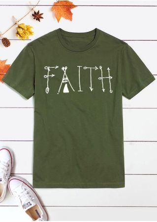 Faith Short Sleeve O-Neck T-Shirt