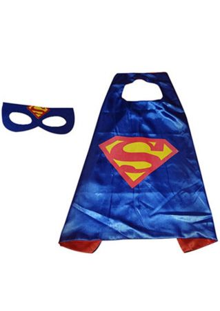 Super Hero Cape Mask Cosplay Set
