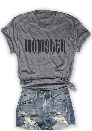Halloween Momster Short Sleeve O-Neck T-Shirt