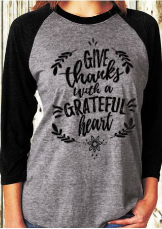 Give Thanks With A Grateful Heart Baseball T-Shirt